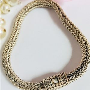 Made in Bali, Indonesia Accessories - Balinese Snake Skin Weave Chain Bracelet for Men